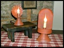 Tin, barn- red electrified lamps!-tin, barn red, red, electric, reflector, lamp, primitive, reproduction