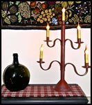 5 Light Candleabra!!-candleabra, 5 light, lamp, reproduction, primitive, red, crimson