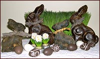 Beeswax Bunnies!-beeswax, bunnies, cinnamon, easter, rabbit, spring, primitive, easter decor