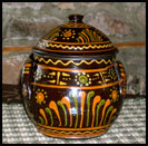 Shooner Plump Oversize Bean Pot-greg shooner, pot, green, yellow, pumpkin, pottery, daisies, redware, pottery