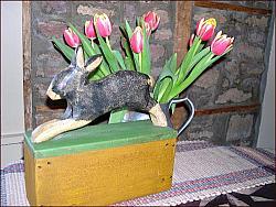 Heavy, Bunny Doorstop!-bunny, doorstop, rabbit, easter, spring, easter decor, spring decor