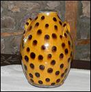 Coin Dot Seed Jar-Seed Jar, Shooner American Redware, Dotted Seed Jar, OOAK