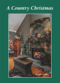 A Country Christmas by Judy Condon-Judy Condon, A Country Christmas, holiday decorating, holiday book, christmas, christmas decorating