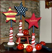 Americana Spindles & Apples!-americana, spindles, apples, summer,  freedom, star, red apples,