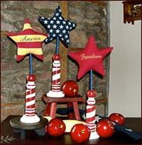 Americana Spindles & Apples!-americana, spindles, apples, summer,  freedom, star, red apples, americana, patrioti