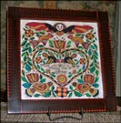 Susan Daul's Gorgeous Fraktur!-susan daul, fraktur, wish, angels, flowers, birds, hearts
