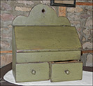 Charming Jack Box-jack box , slant top lid, Wood box, country green