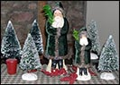 Deep Green Velvet Belschnickel Santas-belsnickel santa, green, velvet, flocked tree, collectibles, christmas, silver