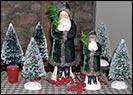 Deep Green Velvet Belschnickel Santas-belsnickel santa, green, velvet, flocked tree, collectibles, christmas, silver