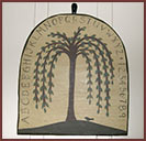 Wooden Plaque with Alphabet and Willow Tree!-plaque, willow tree, wood, primitive, reproduction, alphabet