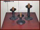 Hogscraper Candleholders-hogscraper, candleholders, hand forged, iron, blacksmith