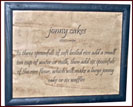 Johnny Cakes-sampler, johnny cakes, primitive, grouping, USA