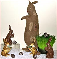 Bunnies and More Bunnies!-bunny, bunnies, rabbit, easter, resin, spring, candy, carrots,