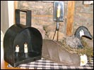 Oversize Miners Lamp-miner's lamp, handforged, blacksmith, reproduction, primitive, iron