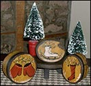Barb Kauffman Goodies!-barb kauffman, paper mache boxes, ice skates, stocking, christmas