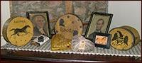 Americana with a Mustard Twist!!-americana, mustard, barb kauffman, paper mache box, osanburg, black, gold, mustard, li