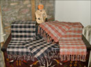 New Handwoven Runners from Judy Robinson!!-textiles, table runner, placemats, homespun, pumpkin, black, oatmeal, checks