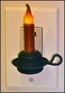 Colonial Night Light-colonial, night light, reproduction, primitives, lighting, candle,
