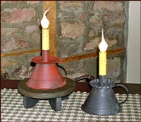 Dainty Petticoat Electric Lamps!-electric lamp, red, black, lighting, early lighting, reproduction, primitive