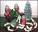 Popcorn & Cranberry Garland-cranberry, popcorn, garland, boot, paper mache, christmas decorations,