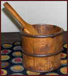 Lapped Bucket Measure-treenware, wood, reproduction, antique, collectibles, bucket measure,