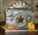 Punched Tin Shelf-punched tin, shelf, tinsmith, robin hood, primitive, reproduction