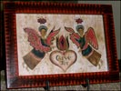 Susan Daul's Beautiful Fakturs!-susan daul, fakturs, give joy, angels, heart, red