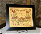 Scatter Kindness with Birds & Angel-scatter kindness, birds and angel, folk art, framed