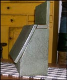 Wonderful green, slant-lid box with great crackle!-box, slant-lid, crackle, green, primitive,