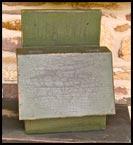 Wonderful green, slant-lid box with great crackle!-box, slant-lid, crackle, green, primitive, reproduction, wood, storage