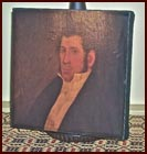 Stern-Looking Gentleman-vintage, colonial, man, portrait, painting, print, primitive, wall, hanging