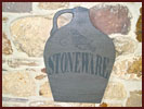 "Nifty ""Stoneware"" Wooden Wall Plaque-stoneware, plaque, wooden, wall, hanging, sale, bargin, closeout"