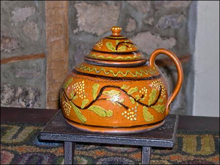Shooner American Redware Teapot