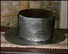 Oversize Tin Top Hat-tin top hat, decorative accessory, primitive decor, reproduction