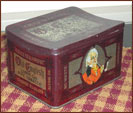 Old Tin Tobacco Box-vintage, aged, primitive, tobacco, tin, box