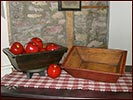 Treenware apple boxes-treenware, spring, black, barn red, box, reproduction, primitive