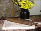 Wonderful dark wood rolling pin!-vintage, old, rolling pin, 20th century, wood, antique, primitive