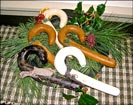 Handmade Wax Candy Canes!!-candy canes, wax, handmade, christmas, bow, christmas decoration