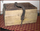 Vintage Carrier Box with Old Leather Handle-leather, old, vintage, box, aged, primitive